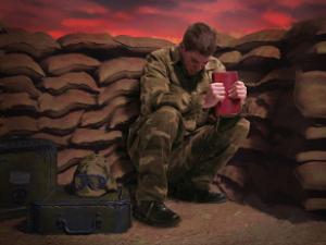 soldado sofre