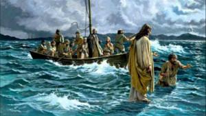 Jesus anda sobre o mar