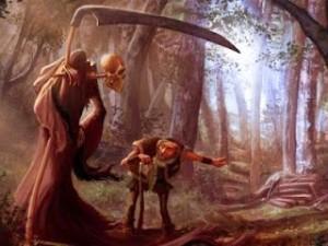 a morte e o lenhador
